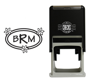 3 Flowers Monogram Stamp