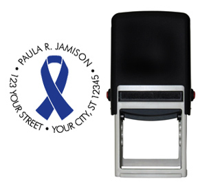 Blue Ribbon Awareness Stamp