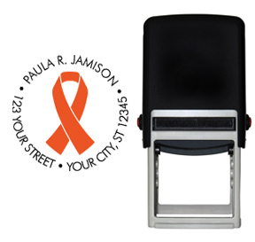 Orange Ribbon Awareness Stamp