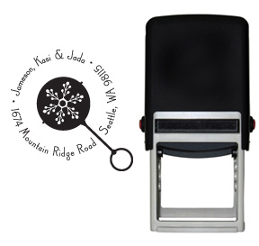 Snowflake Rattle Stamp