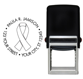 White Ribbon Awareness Stamp