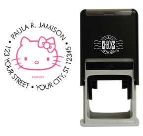 Retro Hello Kitty Stamp Black/Pink