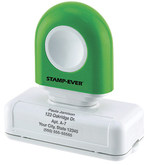 Green Handle 5-line Pre-Inked Stamp