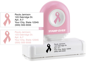 Pink Ribbon Pre-Inked Stamp