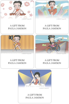 Betty Boop™ Gift Label Set