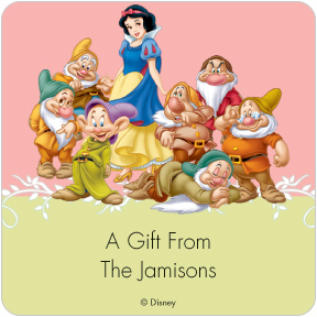 Snow White & The Seven Dwarfs Gift Labels