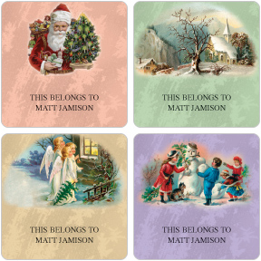 Timeless Holidays Gift Labels
