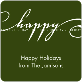 Happy Holiday Gift Labels