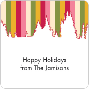 Winter Stripes Gift Labels