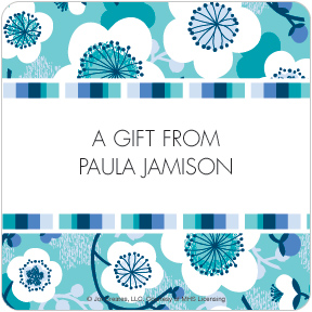 Underwater Blossoms Gift Labels