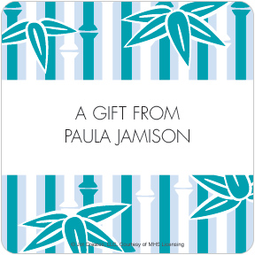 Underwater Bamboo Gift Labels