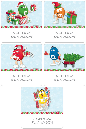 M&M'S� Holiday Gift Labels