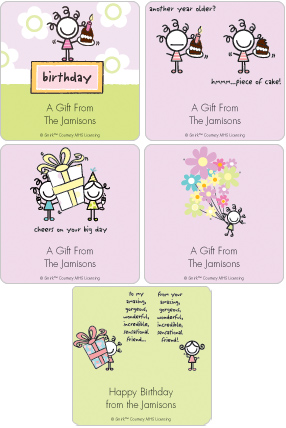 Smirk Happy Birthday Gift Label Set