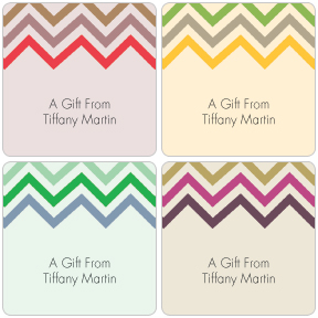 Chevron Gift Labels