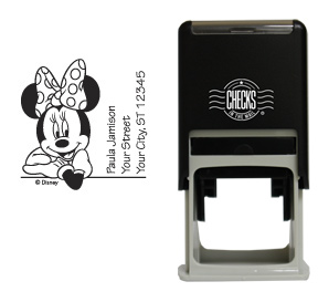 Minnie Mouse Leaning Stamp