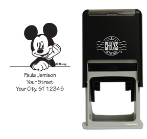 Mickey Mouse Leaning Stamp