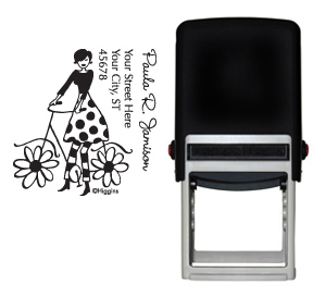 Bicycle Girl Stamp