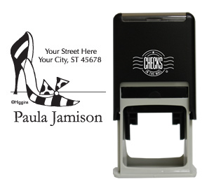 Stripped Stiletto Stamp