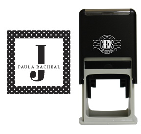 Polka Dot Monogram Stamp