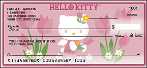 Hello Kitty Blooms Side-Tear Personal Checks - 4 scenes