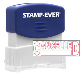 CANCELLED Stock Title Stamp