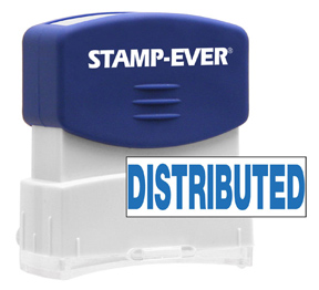 DISTRIBUTED Stock Title Stamp