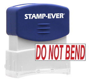 DO NOT BEND Stock Title Stamp