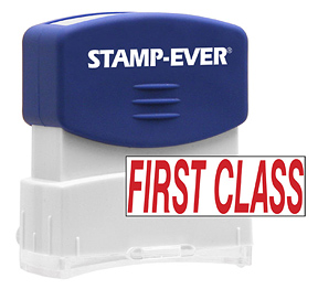 FIRST CLASS Stock Title Stamp