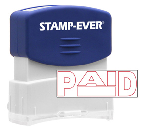 PAID Stock Title Stamp