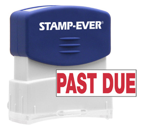 PAST DUE Stock Title Stamp