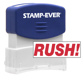 RUSH! Stock Title Stamp