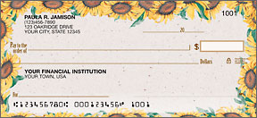 Sunflower Border Personal Checks
