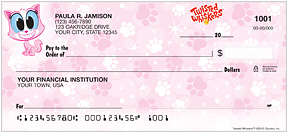 Twisted Whiskers Personal Checks - 4 cat and dog images