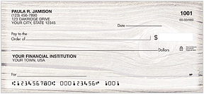 Wood Grain Personal Checks - 4 colors/images