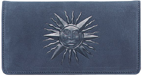 Celestial Embossed Blue Suede Leather Cover