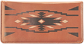 Santa Fe Embossed Brown Leather Cover