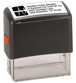4 Line Stamp with Logo