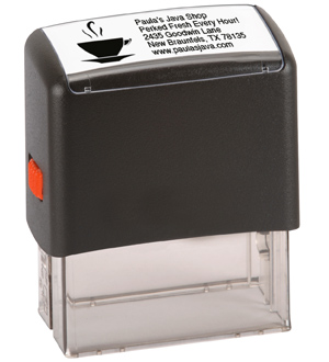 5 Line Stamp with Logo