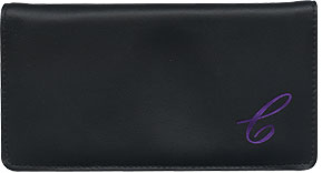 Monogram Leather Cover - Purple