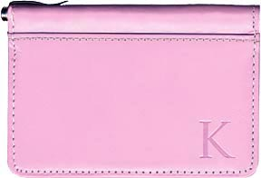 Pink Debit Caddy - Monogram