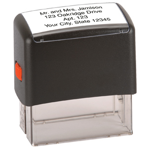 4 Line Custom Message Stamp