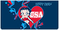 Betty Boop™ Americana Leather Cover